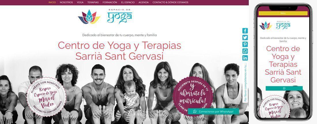 The Webmaster Web Makers Espacio de Yoga diseno web