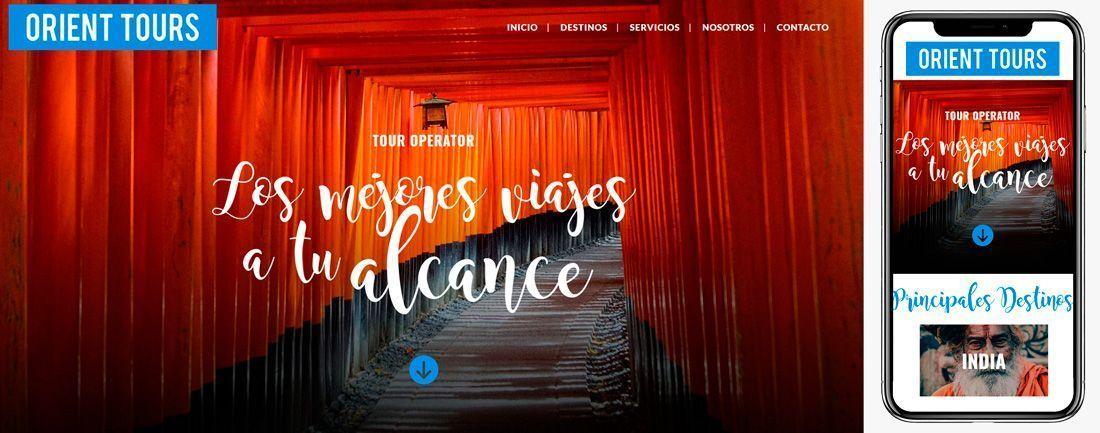 The Webmaster Web Makers Orient Tours diseno web