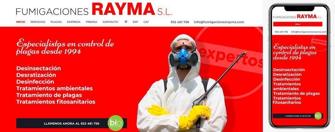 The Webmaster Web Makers Fumigaciones Rayma diseno web
