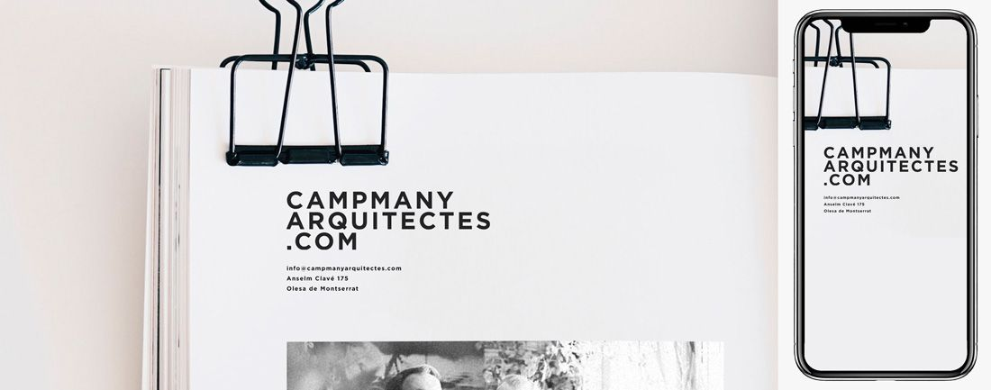 The Webmaster Web Campmany Arquitectes diseno web
