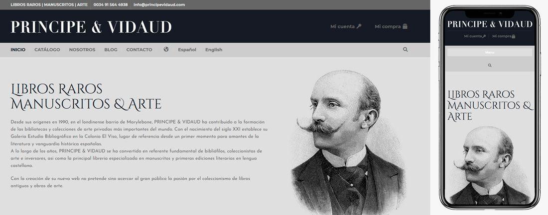 The Webmaster Web Makers principe & Vidaud diseno web