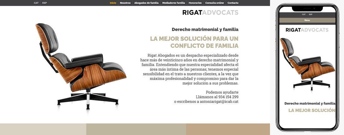 The Webmaster Web Makers Rigat Advocats de familia diseno web