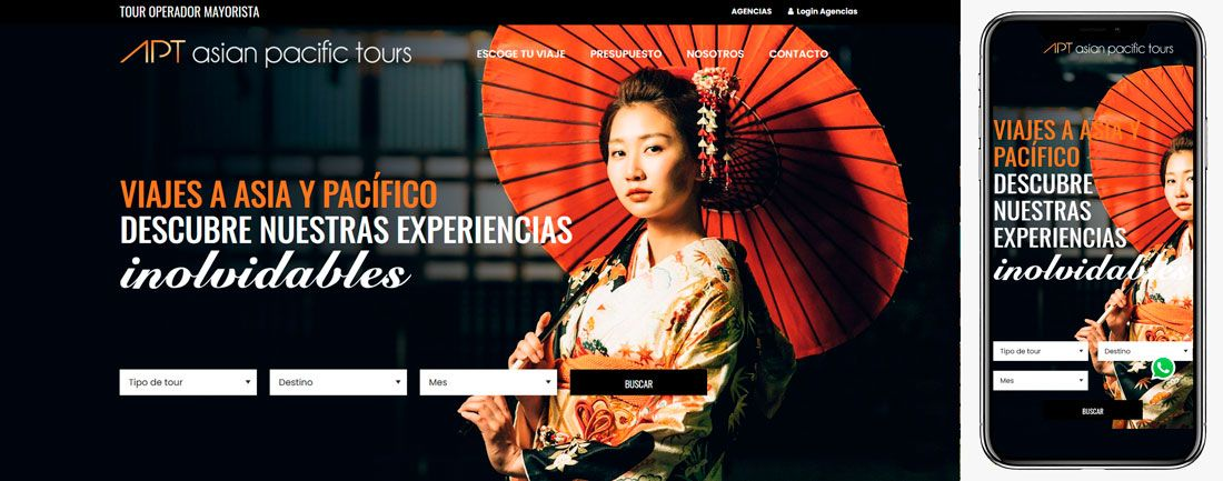 The Webmaster Web Makers Asien Pasific Tours diseno web