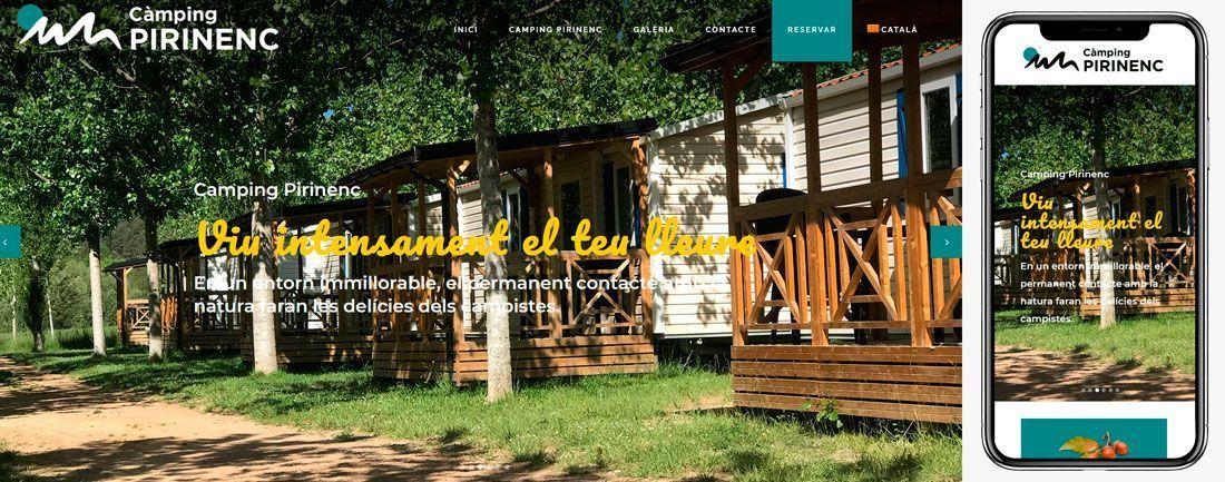 The Webmaster Web Makers Càmping Pirinenc diseno web